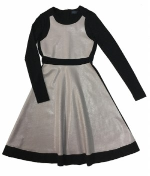 Teen Dress W/ Leather Panels B