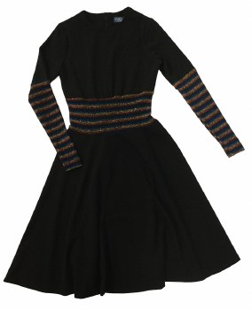 Teen Dress W/ Metallic Stripes