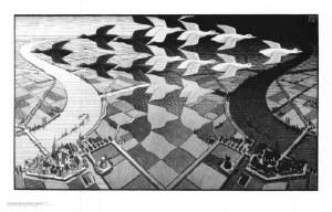 Day & Night Escher Poster