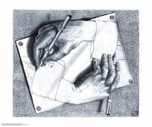 Drawing Hands Escher Poster
