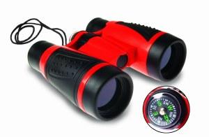 Binoculars w Compass Geosafari