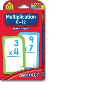 Multiplication 0-12 Flash Crds