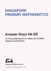 Primary Math 4A-6B US Ans Key