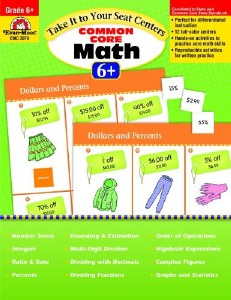 Common Core Math Centers 6+