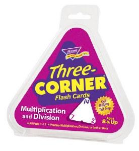 3-Corner Flash Cards Mult/Div