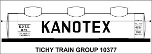 Kanotex 3 Dome Tank Car