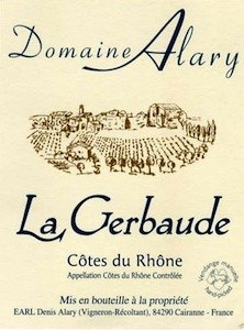 Domaine Alary Cotes du Rhone La Gerbaude 2016