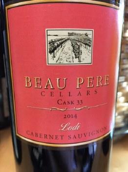 Beau Pere Cabernet Sauvignon Cask 33 2014