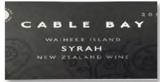 Cable Bay Syrah 2016