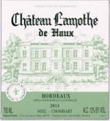 Chateau Lamothe de Haux Bordeaux Blanc 2018 750ml