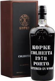 Kopke Colheita Port 1978 w/ 2 glasses