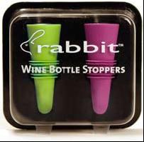 Rabbit Wine Bottle Stoppers 2pk