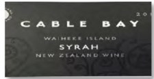 Cable Bay Syrah 2016