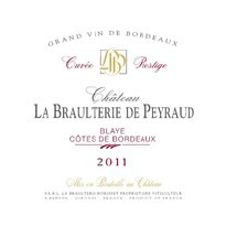 Chateau la Braulterie de Peyraud Cuvee Prestige Blaye Cotes de Bordeaux 2014