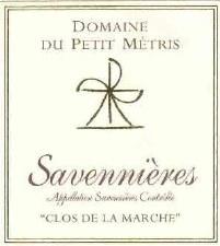 Domaine du Petit Metris Savennieres Clos de la Marche 2007