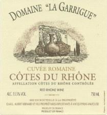 Domaine la Garrigue Cotes du Rhone 2008
