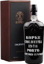 Kopke Colheita Port 1978 w/ 2 glasses