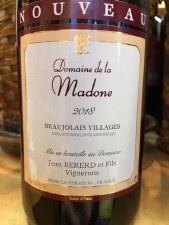 Domaine de la Madone Beaujolais Villages Nouveau 2018