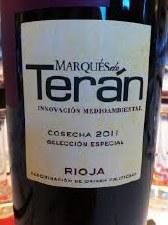 Marques de Teran Rioja Seleccion Especial 2011