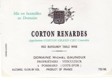 Michel Gaunoux Corton Renardes Grand Cru 2013