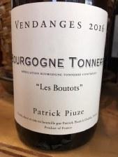 """Patrick Piuze Bourgogne Tonnere """"Les Boutots"""" 2016"""