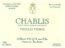 Picq Chablis Vieilles Vignes 2017