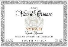 Vins d'Orrance Syrah Ameena 2005