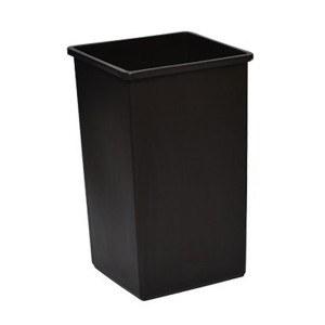 Wastebasket Square 32gl Black