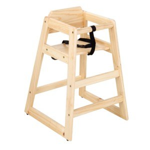 High Chair Natural Wood Finish