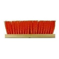 "Push Broom 16"" Orange Street Sweep"