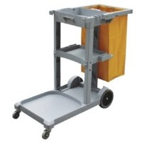 Maids Cart Lite Gray w/Bag