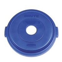 Rubbermaid Brute Recycle Can Lid 32gl Blue
