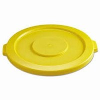 Rubbermaid Brute Flat Lid 32gl Yellow