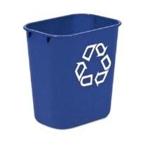 13 Quart Blue Recycling Wastebasket