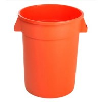 Round 32 Gal Container Orange