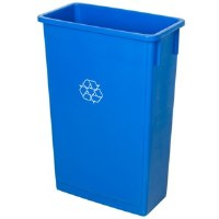 Slim Trash Can Recycle Blue