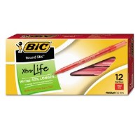 BIC Round Stic Pen Red (12)