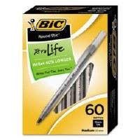 BIC Round Stic Pen Black (60)