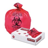 "Biohazard Red Can Liners 24"" x 32""  1.3mil (250)"