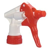 "Spray Head 8"" White/Red"