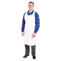 "Apron White Poly 28""x55"" (100)"