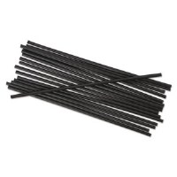 "Cocktail Straw 5.25"" Black 10K"