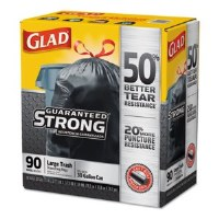 Glad Drawstring Large Black Trash Bags (90)