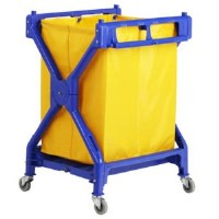 Laundry Cart X Frame Folding