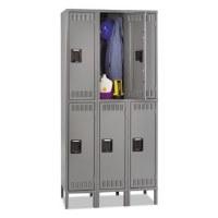 Triple Stack Double Tier Locker w/Legs