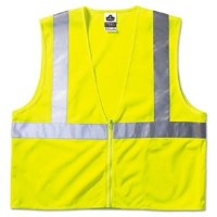 Safety Vest Mesh Yel w/Strips