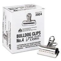 "Bulldog Clips 3"" (12 clips)"