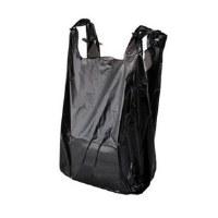 T-Shirt Bags Black 14mic (700)