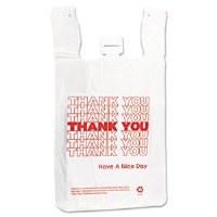 T-Shirt Bags White 14mic (500)