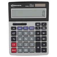 15968 Minidesk Calculator 12-Digit LCD